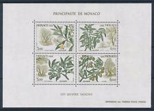 [69787] Monaco 1988 Flora Olive Trees Souvenir Sheet MNH