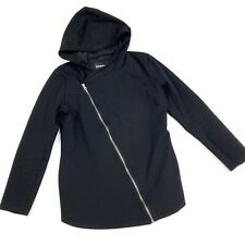 Betabrand Size Small Jacket Hooded Asymetrical Zipper Black B30