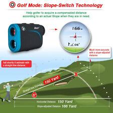 600M 6X Golf Laser Rangefinder LCD Distance Meter Speed Tester Range Finder