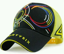 Yellow Adjustable Valentino Rossi VR46 Moto GP Baseball Cap Hat 3D Embroidered
