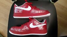 NIKE Air Force 1 Low Premium Red/White/Silver AF1 Shoes 350693-611 Women Sz 9.5
