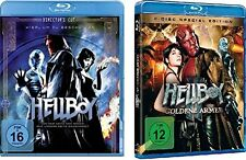 3 Blu-rays * HELLBOY & HELLBOY II : DIE GOLDENE ARMEE - John Hurt  # NEU OVP <