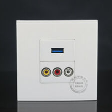 Wall Face Plate RCA AV + 3.0 USB Charger Port Socket  Assorted Panel Faceplate