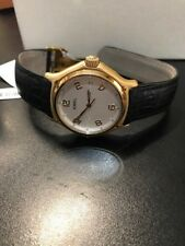 NEW Rare EBEL 1911 Solid 18k Gold with Crocodile Leather Band Mens Watch 8080241