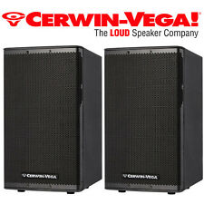 "Pair Cerwin Vega CVX-10 10"" 1500 Watt Powered Loud Speaker 3 Ch Mixer DJ Pro"