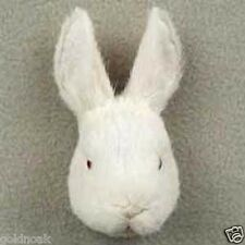 WHITE RABBIT-Fur Magnets (Handcrafted & Hand painted..Collectable. Great gifts!