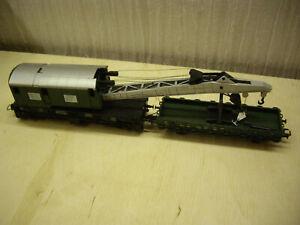 ROCO Kran 4316 + Kranschutzwagen 4317 in grün komplett