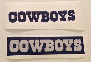 "Dallas Cowboys FATHEAD Team Sign Banner Graphic Lot of (2) 12""x3"" Blue & White"