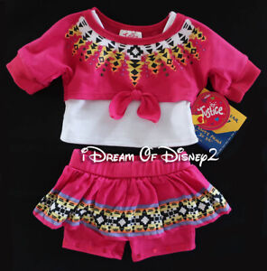 Build-A-Bear JUSTICE AZTEC FUCHSIA 2-FER, SKIRT/LEGGINGS Teddy Clothes Outfit
