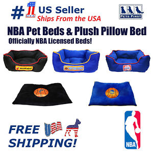 Pets First NBA Pet Cuddle Bed Pillow bed Mattress bed for DOGS & CATS. Licensed!