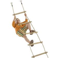 Strickleiter mit 6 Holz-Sprossen Länge: 220 cm Seilleiter Kletterleiter Schaukel