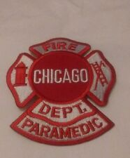 Embroidered Chicago Fire Department Paramedic Emblem Patch
