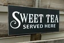 farmhouse wood sign SWEET TEA  wooden rustic country kitchen 5.5X12 shelf sitter