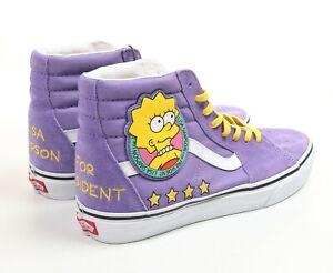 Vans x The Simpsons Lisa For President Sk8-Hi Men Size 9 Women 10.5