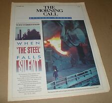 1995 BETHLEHEM STEEL COMPANY FALLS SILENT SPECIAL REPORT COMMEMORATIVE PAPER