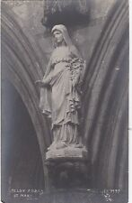 Statue Of St. Mary Inside Abbey, SELBY, Yorkshire RP