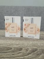 2 NEW PHILOSOPHY PURE GRACE NUDE ROSE EAU DE TOILETTE PERFUME 1.5 ML / 0.05 OZ🔥