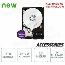 """Hard Disk HD 3TB Audio Video SATA 3.5"""" ALLFRAME 4K - WD - WD30PURZ"""
