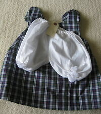 """Hand Made Plaid Jumper Doll Dress & Bloomers 24"""" Doll"""