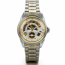 Men's Transparent Skeleton Automatic Mechanical Stainless Steel Wrist Watch Gift
