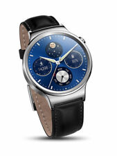 Huawei W1 Classic Stainless Steel Leather Strap Smartwatch 4GB Android Wear iOS