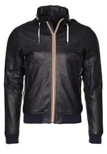 Men's Leather Jacket, Designer,Gold Bunny,Size XL, RRP£649