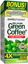 Purely Inspired Green Coffee Bean Bonus Tablets, 100 Count
