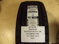 2 DUNLOP WINTER MAXX SJ8 265 60 18 110R BRAND NEW TIRES 290124120