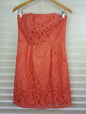 PORTMANS sz 10 womens strapless LACE dress [#1738]