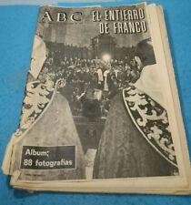 REVISTA PERIODICO ESPAÑOL ABC 25-NOV-1975 EXTRAORDINARIO EL ENTIERRO DE FRANCO