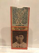 VINTAGE 1935-36 Bill Urbanski Diamond Matchbook Cover, Boston Braves, LOOK!