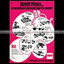 LEGO SYSTEM La ville 1972 - Pub / Publicité / Original Advert Ad #A1025