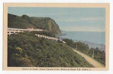 Chemin de Gaspé STE MARTHE Quebec Canada 1930-40s H V Henderson Postcard S M G 3