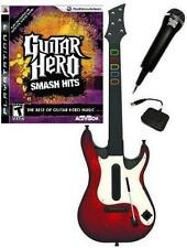 NEW PS3 Wireless Guitar Hero 5 Guitar, GH Smash Hits Game & Microphone Bundle