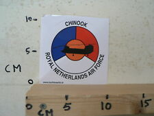 STICKER,DECAL ROYAL NETHERLANDS AIR FORCE,LEGER, ARMY, CHINOOK HELICOPTER