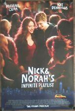 """NICK AND NORAH'S INFINITE PLAYLIST"" Original DS  Movie Poster 27X40"