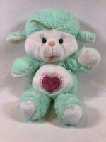 Vintage Care Bears Plush, Care Bear Cousins, Gentle Heart Lamb, 13 Inch Plushie