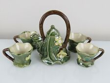 April Cornell Vintage 6 pc Porcelain Tea Set Cabbage Head w/flowers Teapot