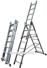 COMBINATION LADDER-3 SECTION 5 WAY- COMBI MULTI STEP LADDER ALUMINIUM