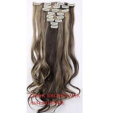 "17""-26"" 100% as Human Hair Full Head Clip in Remy Hair Extensions Synthetic Hair"
