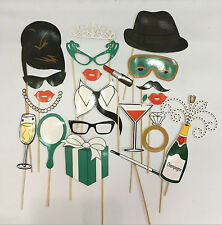 Gatsby Retro 20' 30' Mustache Party eye glass Selfie Photo Booth Prop Game Sign