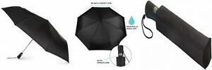 totes Automatic Open Close Large Canopy Golf Umbrella Black