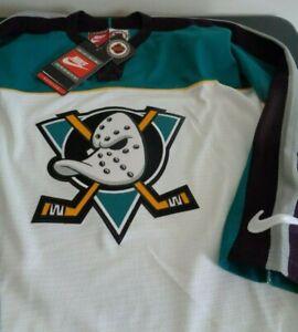 ANAHEIM MIGHTY DUCKS Hockey NIKE Sewn Blank VINTAGE Jersey MEDIUM Free Ship NHL