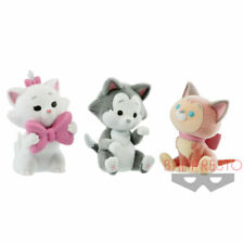 Disney Character Cutte Fluffy Puffy Flocked Cat Figure - Marie, Figaro, Dinah