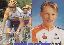 CYCLISME carte cycliste BERT HIEMSTRA équipe RABOBANK
