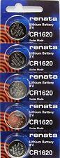 CR1620 RENATA WATCH BATTERIES (5 Piece) ECR1620 KCR1620  New Authorized Seller