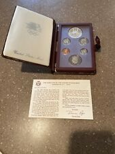 1984-S Prestige US Proof Mint set with Olympic Silver Dollar in box 1984