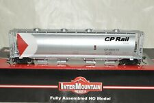 HO scale Intermountain CP Rail Canada SILVER cylindrical grain hopper car train