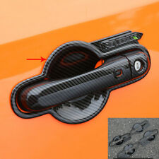 ABS carbon fiber outside door bowl cover trim 8pcs For 2015-2020 Jeep Renegade