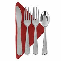 Disposable Silverware Plastic Cutlery Party Pack Spoons Forks Knives - 192 Piece